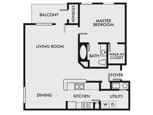 1 Bedroom, 1 Bathroom